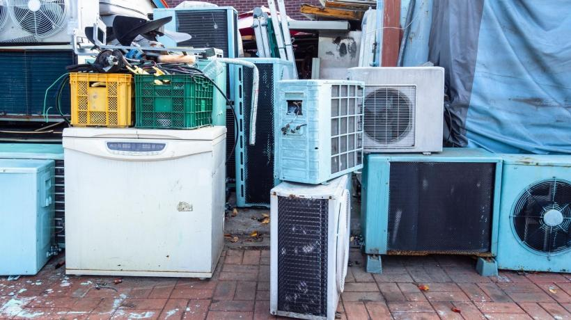 old refrigerators and air conditioners